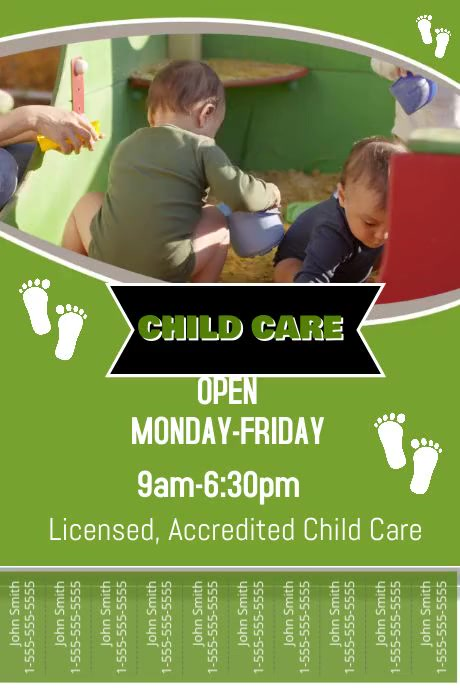 Childcare Flyer Template Postermywall