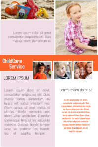 Childcare Service Flyer Template