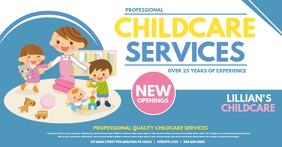 Childcare services delt Facebook-billede template