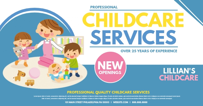 Childcare services Facebook Gedeelde Prent template
