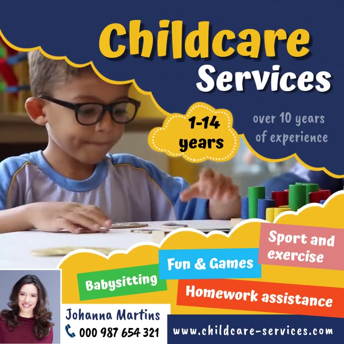 Childcare services Instagram Post template