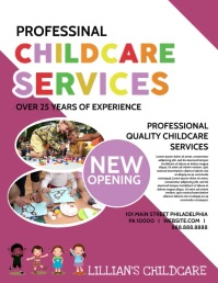 Childcare services Flyer (US Letter) template