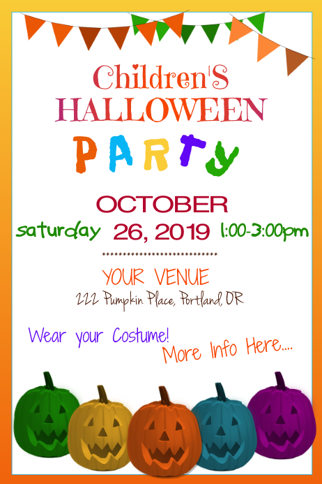 Children's Halloween Party Poster