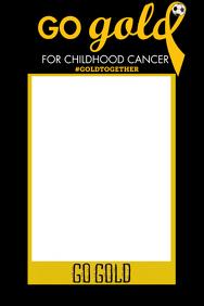 Childhood Cancer Party Prop Frame