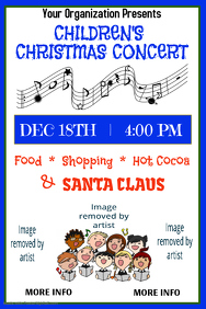 Children's Christmas Concert Poster Template