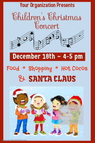 Children's Christmas Concert Poster Template