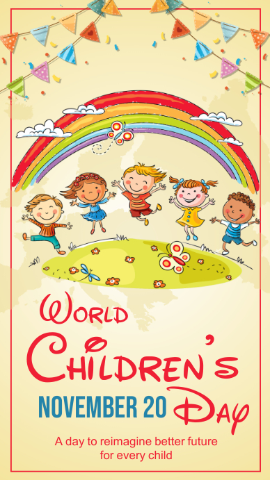 Children's day,event,party Koptekst blog template