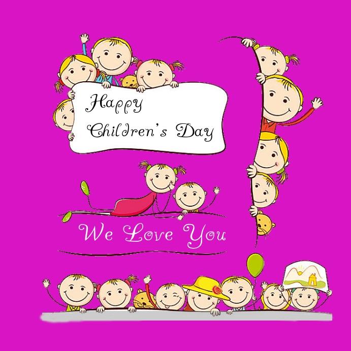 Children's day Pos Instagram template