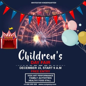 CHILDREN'S DAY FAIR FLYER Instagram Post template
