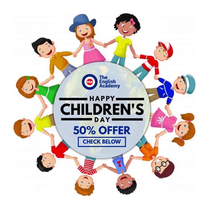 Children's Day Offer Video Post Template Persegi (1:1)