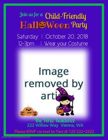 Children's Halloween Party Flyer