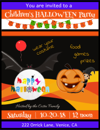 Children's Halloween Party Flyer Template Volante (Carta US)
