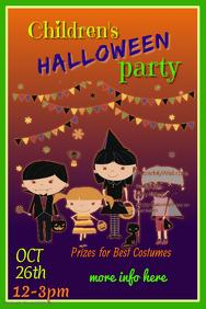 Children's Halloween Party Poster