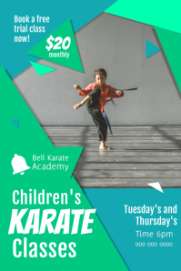Children's Karate Class Poster