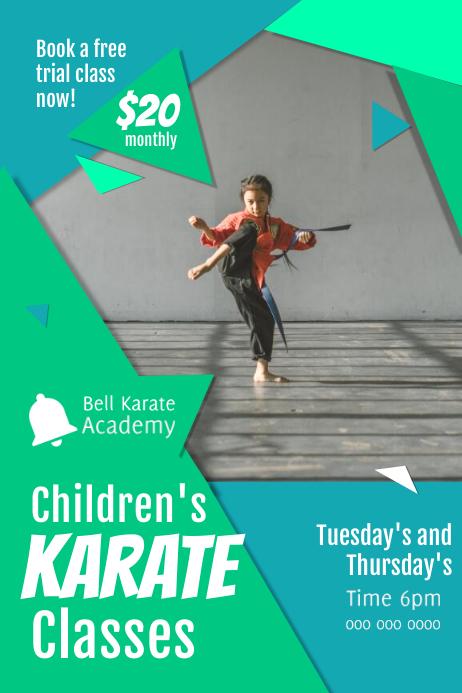 Children's Karate Class Poster template