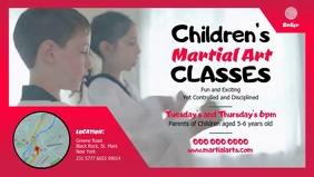 Children's Martial Arts Class Digital Display Video วิดีโอหน้าปก Facebook (16:9) template