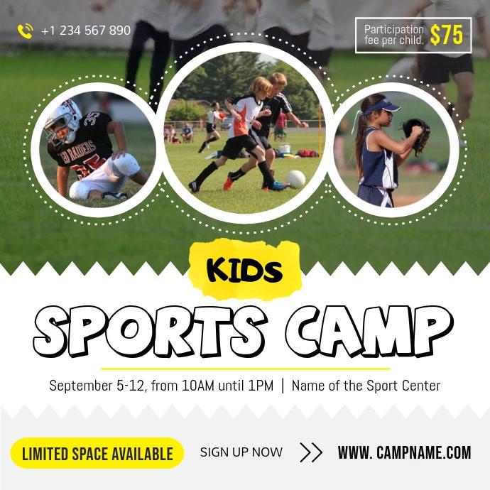 Children's Sports Camp Square Video