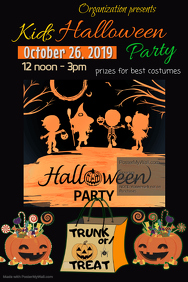 Children;s Halloween Party Poster