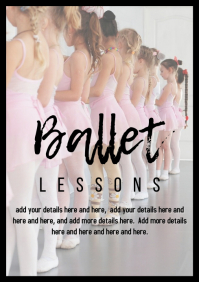 Ballet lessons children poster template A4