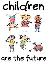 Children Are The Future school kids poster