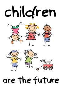 Children Are The Future school kids poster Iphosta template