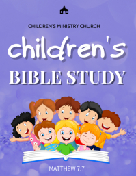 Children bible study Flyer (US Letter) template