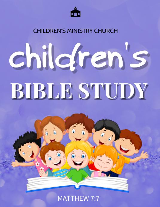 Children bible study 传单(美国信函) template