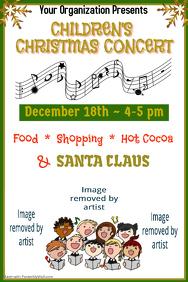 Children Christmas Concert Poster
