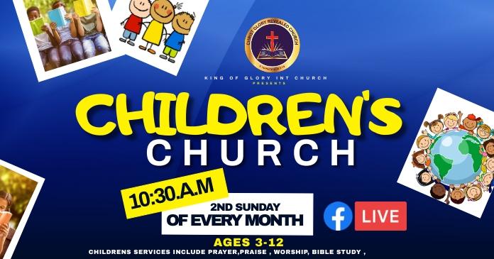 CHILDREN CHURCH Facebook Shared Image template