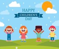 Children day Umugqa Ophakathi template