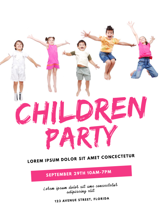 Children Day Party Flyer Template