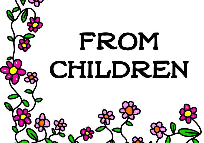 Children A4 template