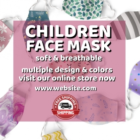 Children face mask retail template Instagram Post