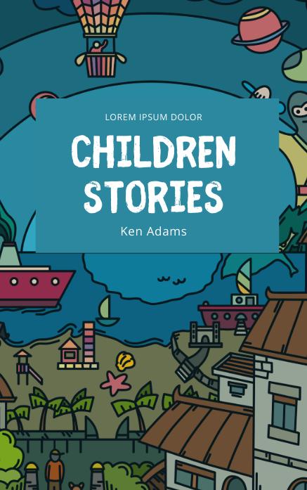Children Kids Book Cover Template