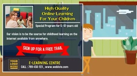 Children Online Study Animation