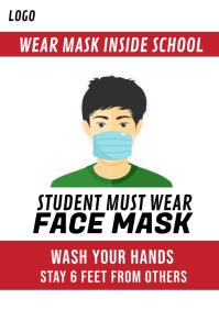 Children wear mask School Poster