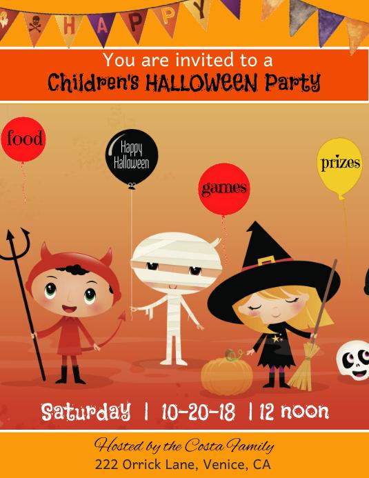 Childrens Halloween Party Flyer