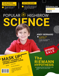 Childrens Science Magazine Cover Flyer Templa template