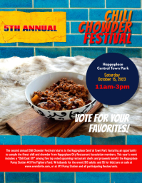 chili Chowder Event Cook off Contest Fundraiser Flyer