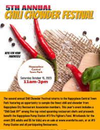Chili Chowder Fest Event Flyer