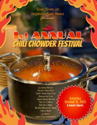 Chili Chowder Festival Event Flyer Template