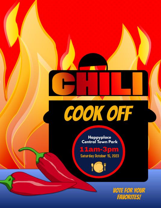Chili Chowder Fundraiser Event Flyer