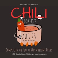 chili cook off advertisement 方形(1:1) template