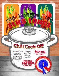 Chili Cook Off Contest Festival flyer