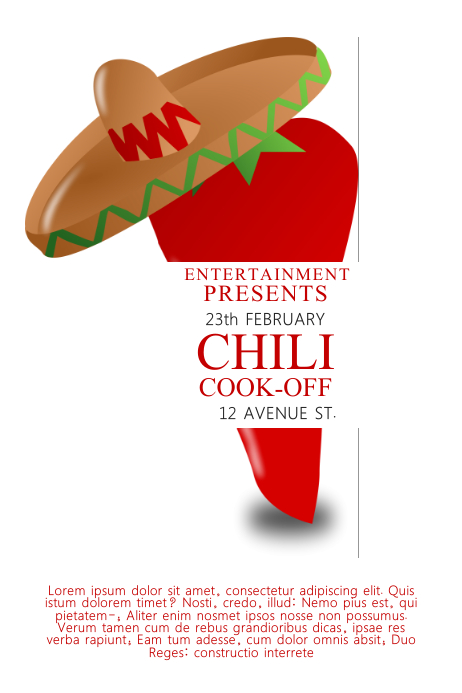 Chili Cook-off Contest Template