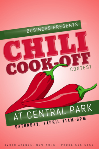 Customizable Design Templates for Chili Cook-off Contest Template ...