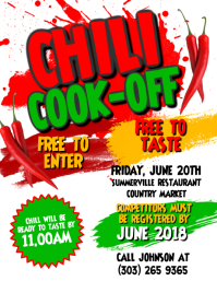 Chili Cook-Off Contest Flyer