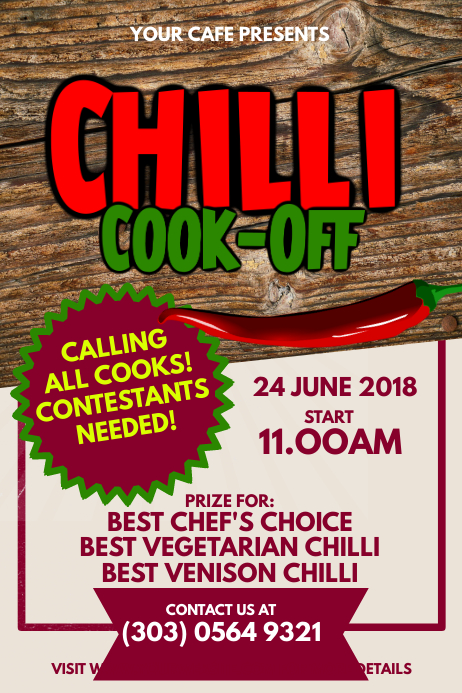 Chili Cook-Off Contest Poster Template