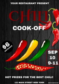 Chili cook off A4 template