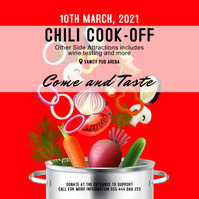 chili cook-off Квадрат (1 : 1) template